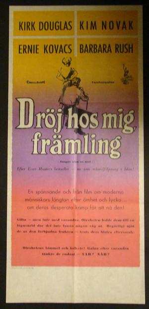 DRÖJ HOS MIG FRÄMLING (KIRK DOUGLAS, KIM NOVAK)