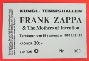FRANK ZAPPA - Stockholm 1974