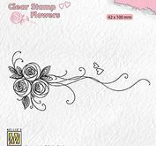 Nellie Snellen - Clear stamp -Bouquet roses 1