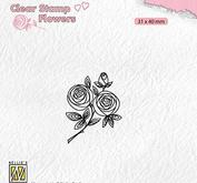 Nellie Snellen - Clear stamp -rose twig