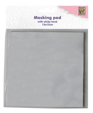Masking paper pad sticky back