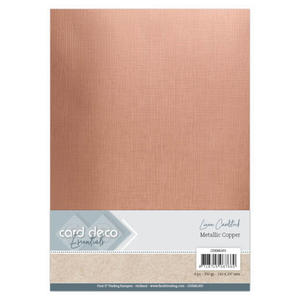 Linen metallic cardstock - Koppar