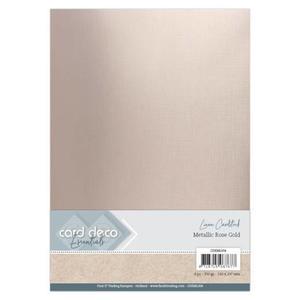 Linen metallic cardstock - Rosguld