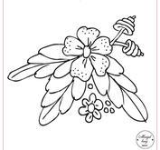 Blomma med blad 091