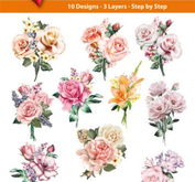 Easy 3D toppers - pastell flowers