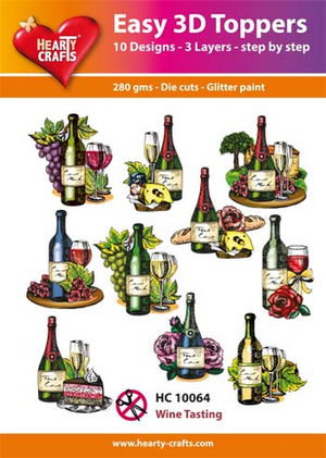 Easy 3D toppers -wine tasting