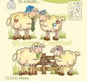 Leane Creatief - clearstamps - sheep