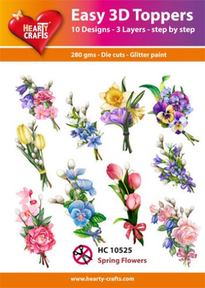 Easy 3D toppers -spring flowers 2