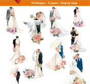 Easy 3D toppers -wedding couples
