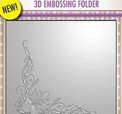 Nellie Snellen - 3D embossingfolder -Poinsetta corner.