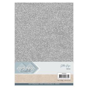 Card Deco - Glitterpapper - Silver
