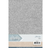 Card Deco - Glitterpapper - Silver