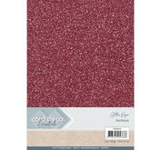 Card Deco - Glitterpapper - Bordeaux