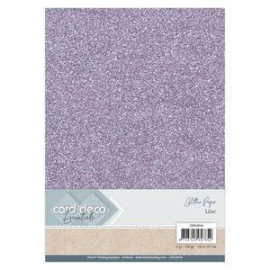 Card Deco - Glitterpapper - Liliac