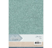 Card Deco - Glitterpapper -Mint