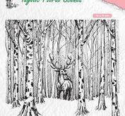 Nellie Snellen - Idyllic floral scene - Deer in forest