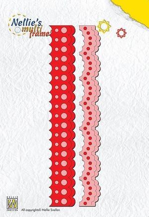 """Nellie Snellen  - Multi frame die -""""2-borders-2"""" 15 cm"""
