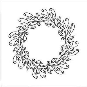 Nellie Snellen - Embossing folder - Leaves Wreath