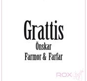 Grattis önskar Farmor & Farfar -rak
