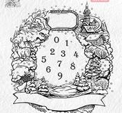 Nellie Snellen - Clear Stamp - Christmas wreath