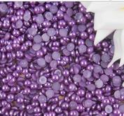 ca 230 st halvpärlor, Färg Mörk Lila, 5 mm