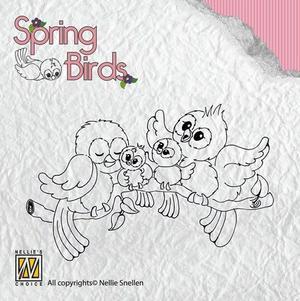 Nellie - Snellen - Clear stamp - Spring Birds 001