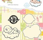 Nellie Snellen - Clearstamp + die, its a boy sweet dreams