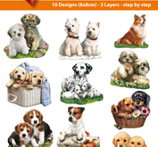 Easy 3D toppers -dogs