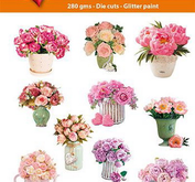 Easy 3D toppers -Bouquet in vase