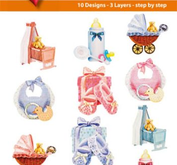 Easy 3D toppers -Newborn