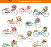 Easy 3D toppers -Bicycles