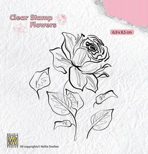 Nellie Snellen - Clear Stamp - Rose
