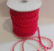 Pärlband, röd,  6mm