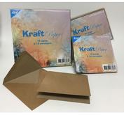 Joy! - Kraft paper cards and envelopes