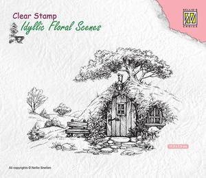 Nellie Snellen - Clear Stamp - scene-with old house