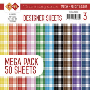 Card Deco - Designer sheets - rutor - Bright colors