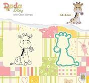 Nellie Snellen - Dada Dies + clear stamp  -  Cute Giraffe