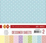 Card Deco - Designer sheets - prickigt - Pastell  colors