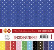 Card Deco - Designer sheets - prickigt -Bright  colors