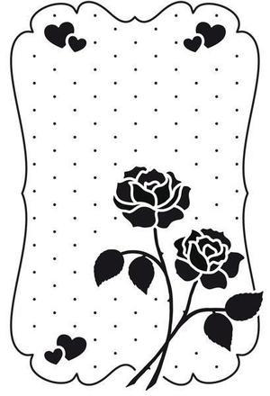 Nellie Snellen - Embossing folder -love