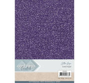 Card Deco - Glitterpapper - Dark Purple