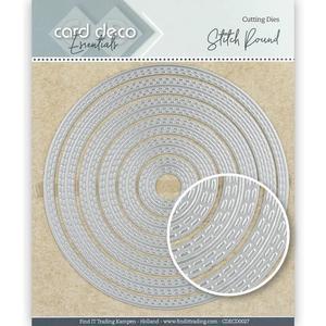 Card Deko - Essentials - Cutting dies -   stitch Round