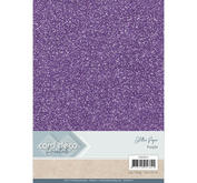 Card Deco - Glitterpapper- purple