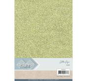 Card Deco - Glitterpapper- gold