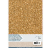 Card Deco - Glitterpapper- bronze