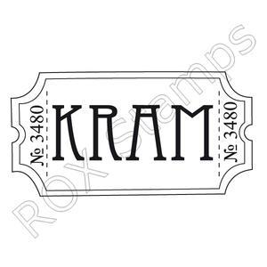 Biljett - Kram -