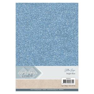 Card Deco - Glitterpapper- Bright blue