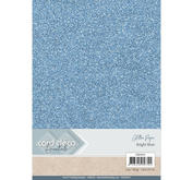 Card Deco - Glitterpapper- Bright blue