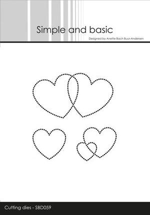Simple and Basic - die -  dotted heart