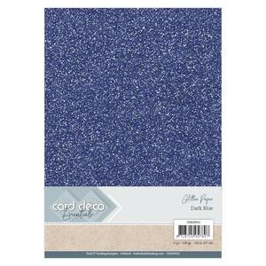 Card Deco - Glitterpapper- Dark blue